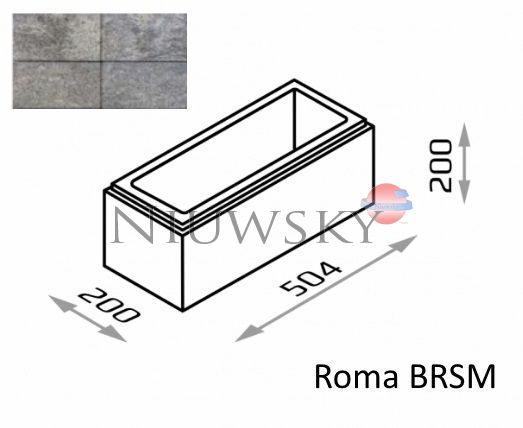 Bloczek murkowy Roma BRSM 50,4/20/20 kolor onyx / Joniec