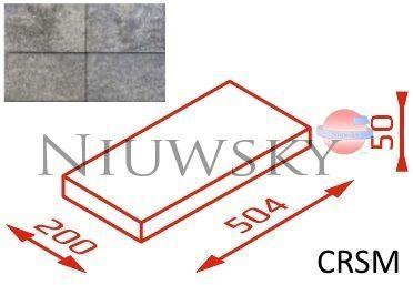 Daszek na słupek CRSM 50,4x20x5 kolor onyx /Joniec