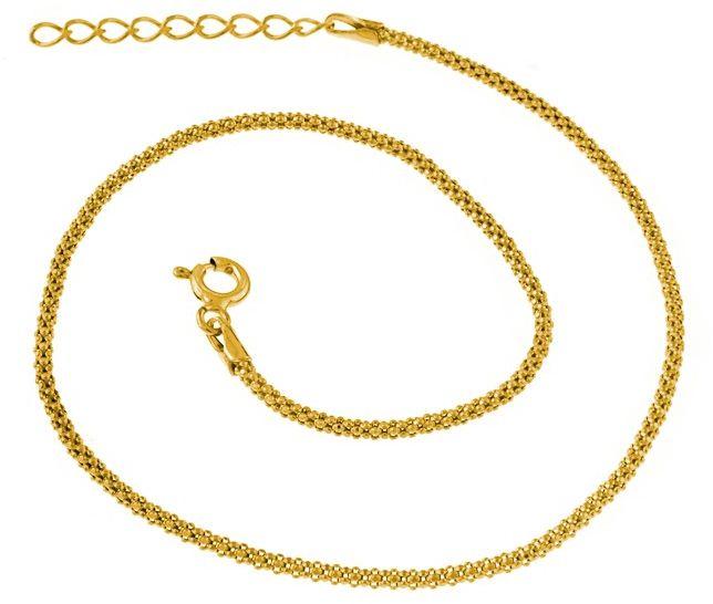 Elegancka pozłacana srebrna bransoletka na nogę srebro 925 ML330BNG
