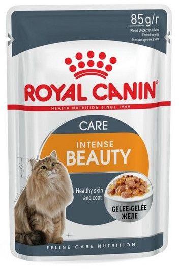 Royal Canin Intense Beauty w galaretce karma mokra dla kotów dorosłych, zdrowa skóra, piękna sierść saszetka 85g