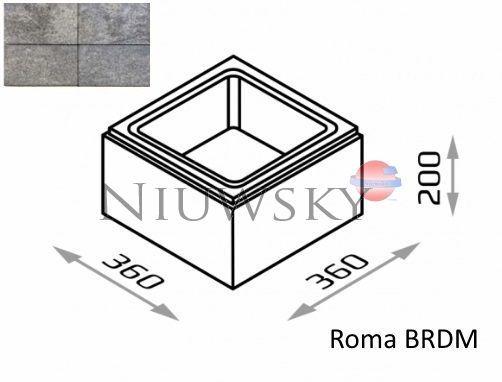 Bloczek słupkowy Roma BRDM 36/36/20 kolor onyx / Joniec