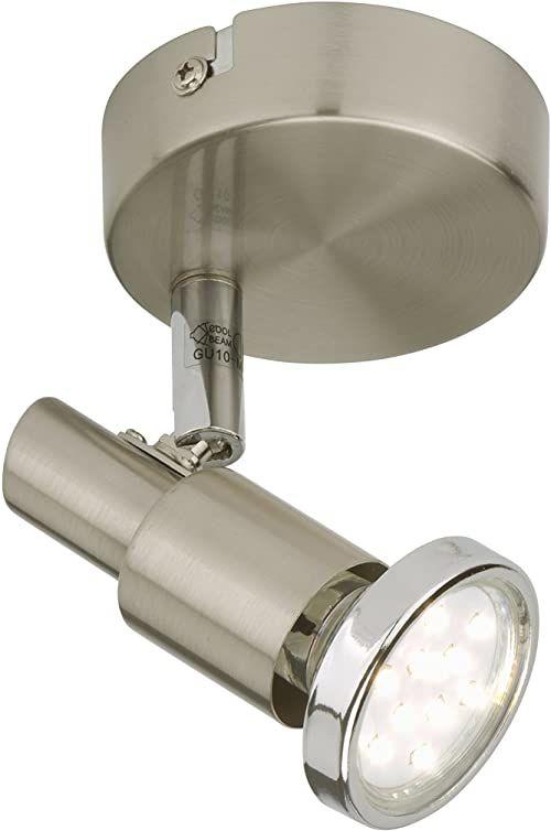 Briloner Leuchten lampa ścienna LED, lampa punktowa obrotowa i wychylna, lampa sufitowa i ścienna, metal, reflektor z żarówką LED, 3 W, 10,5 x 11 x 12 cm