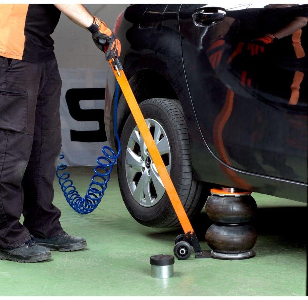 2 stopniowy samochodowy podnośnik pneumatyczny, bałwanek, udźwig 2 tony, BAHCO [BH9BJ22SLH]