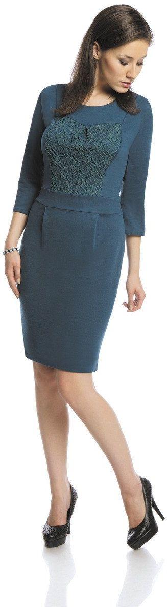 Sukienka FSU421 ZIELONY MORSKI