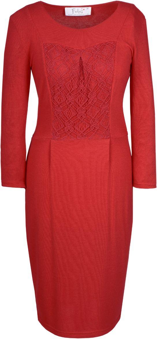 Sukienka FSU421 RUBINOWY