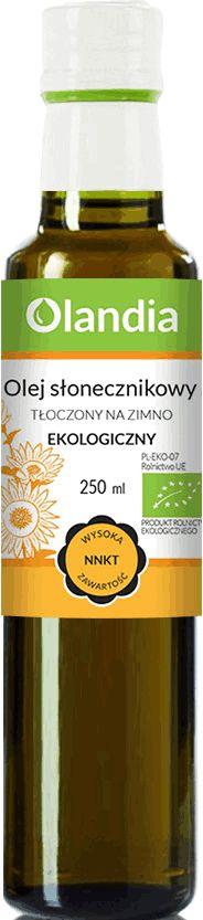 Olej Słonecznikowy Zimnotłoczony 250ml BIO EKO - Olandia