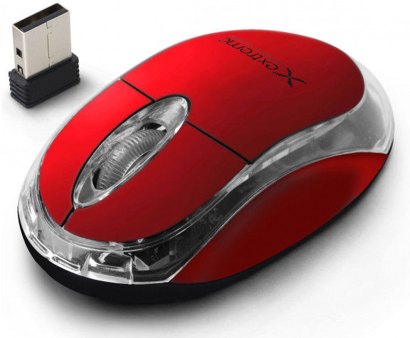 XM105R Extreme mysz bezprz. 2.4ghz 3d opt. usb harrier czerwona
