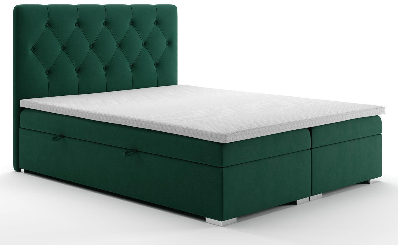 Pikowane łóżko hotelowe Rina 120x200 - 58 kolorów
