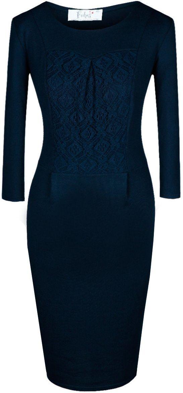 Sukienka FSU421 GRANATOWY