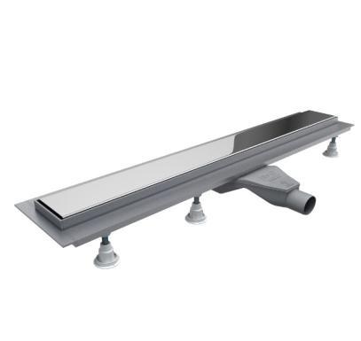 Schedpol Base-Low odpływ liniowy z maskownicą Steel 60x8x6,5cm OLSL60/ST-LOW