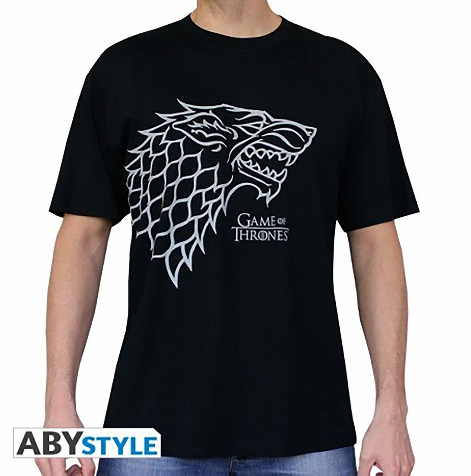 "ABYstyle  Game of Thrones  T-shirt ""Stark""  męski  czarny (S)"