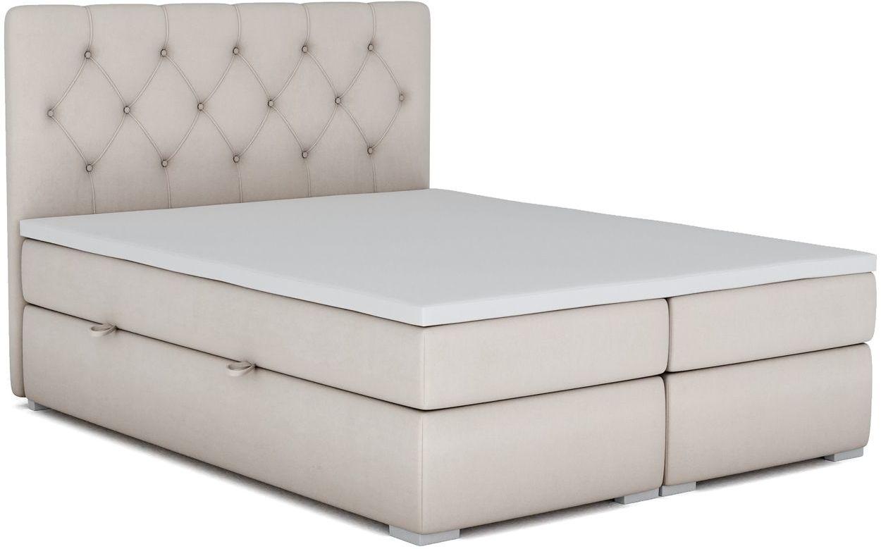Kontynentalne łóżko z pojemnikiem Rina 140x200 - 58 kolorów