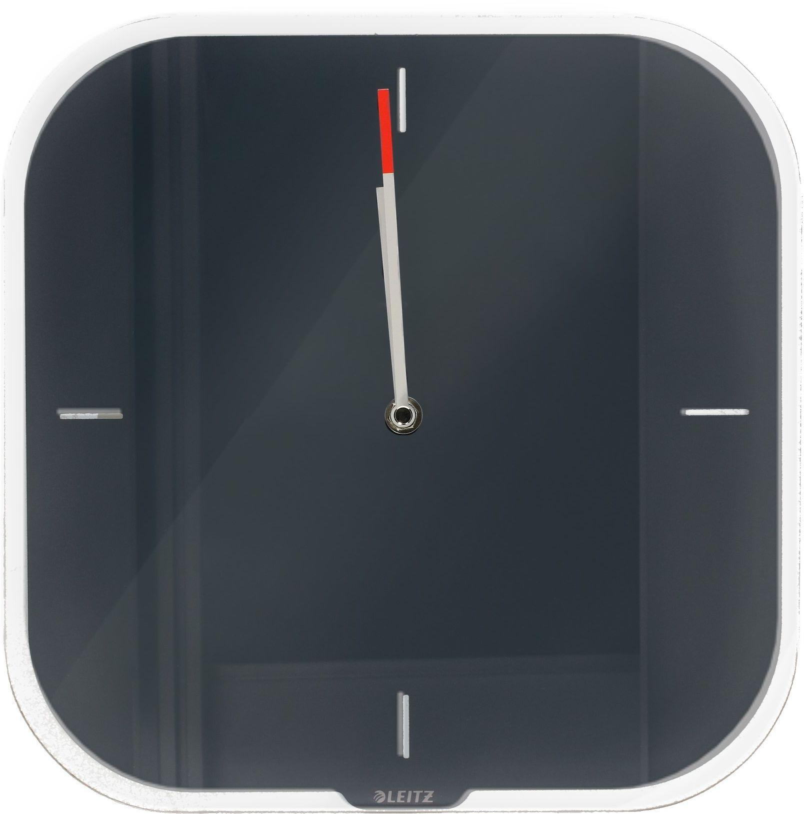 Zegar ścienny szary Leitz Cosy 90170089
