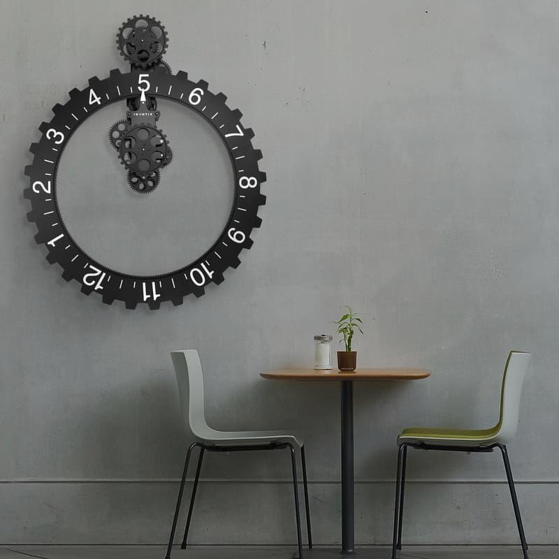 Zegar ścienny Big Hour Wheel czarny