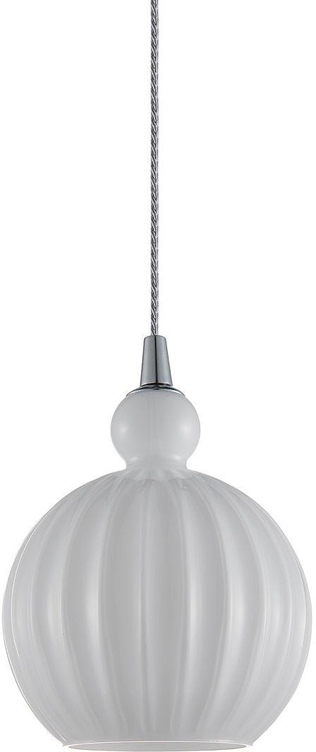 Italux Biron PND-8744-1S-OP lampa wisząca nowoczesna metal chrom klosz szkło przeźroczysty IP20 15cm E27 1x60W