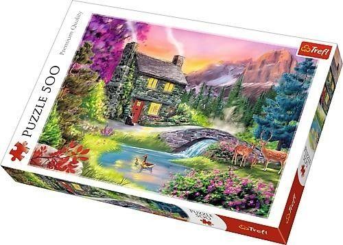 Puzzle TREFL 500 - Górska sielanka, Mountain idyll
