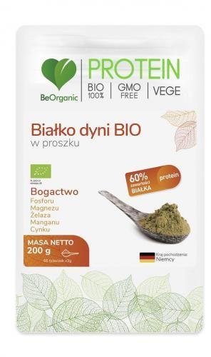 Białko dyni w proszku bezglutenowe BIO 200 g Be Organic
