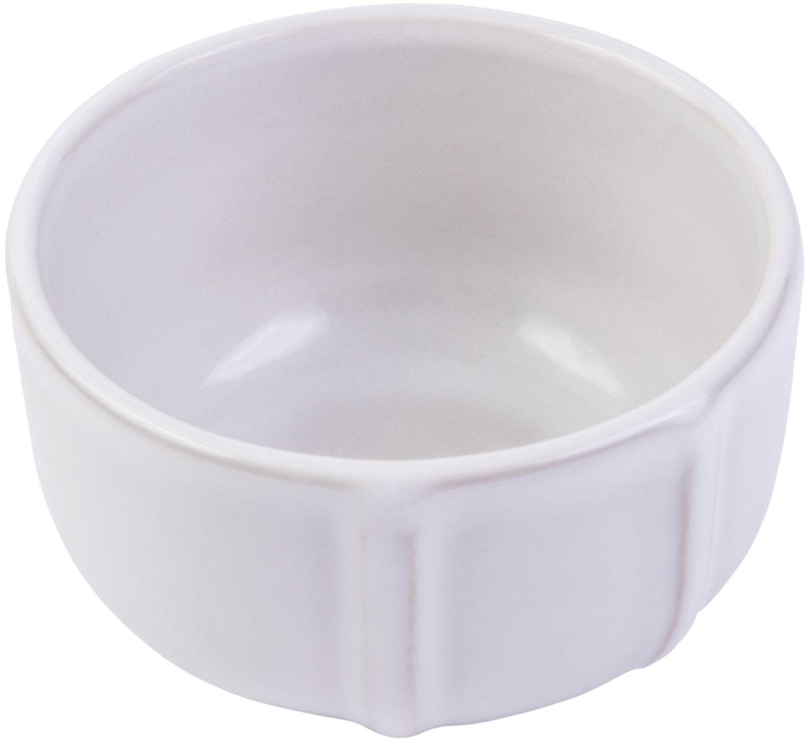 Pyrex 8013110.0 Signature zestaw 6 miseczek ceramicznych kamionka biała średnica 8 cm