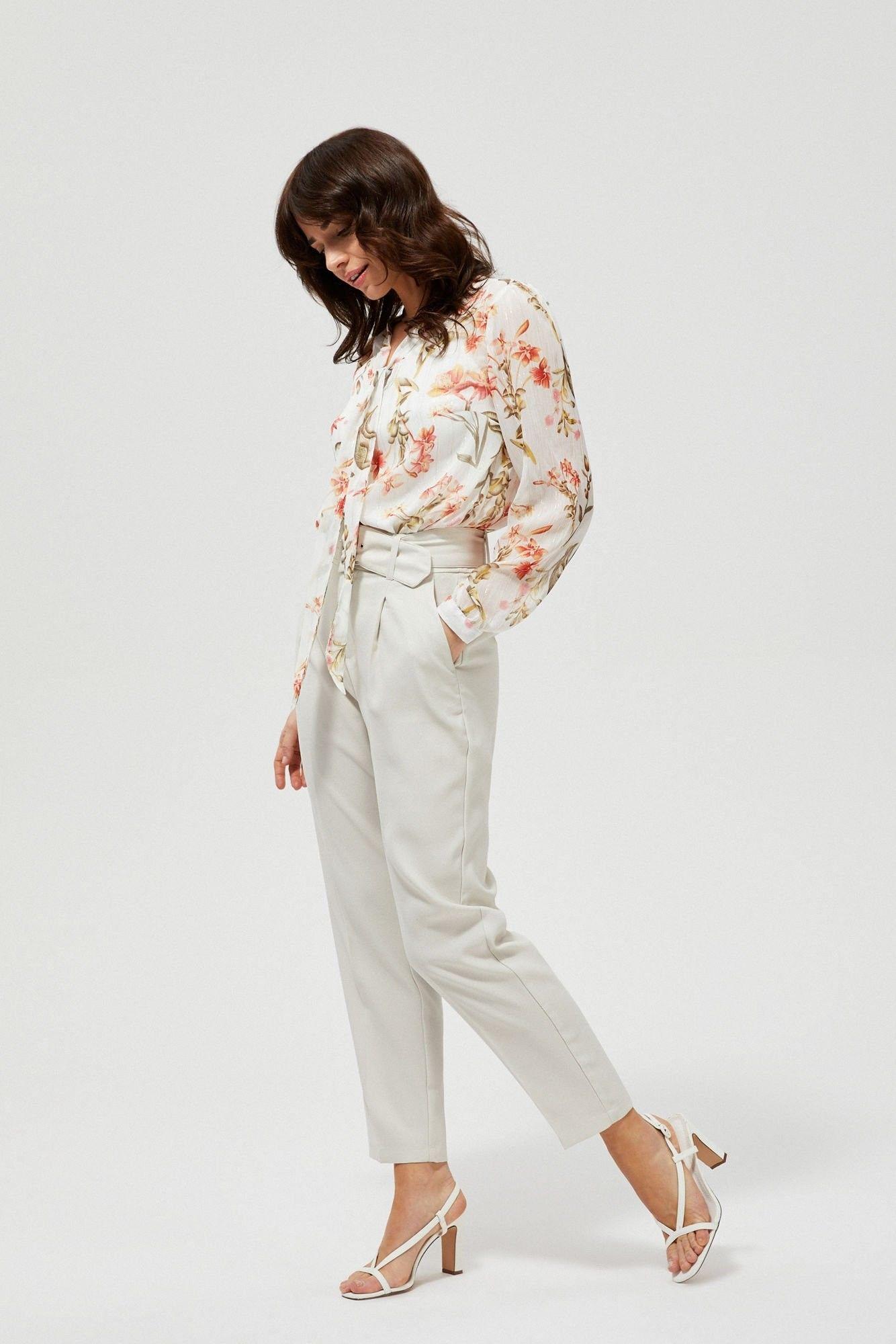 Spodnie na kant z paskiem