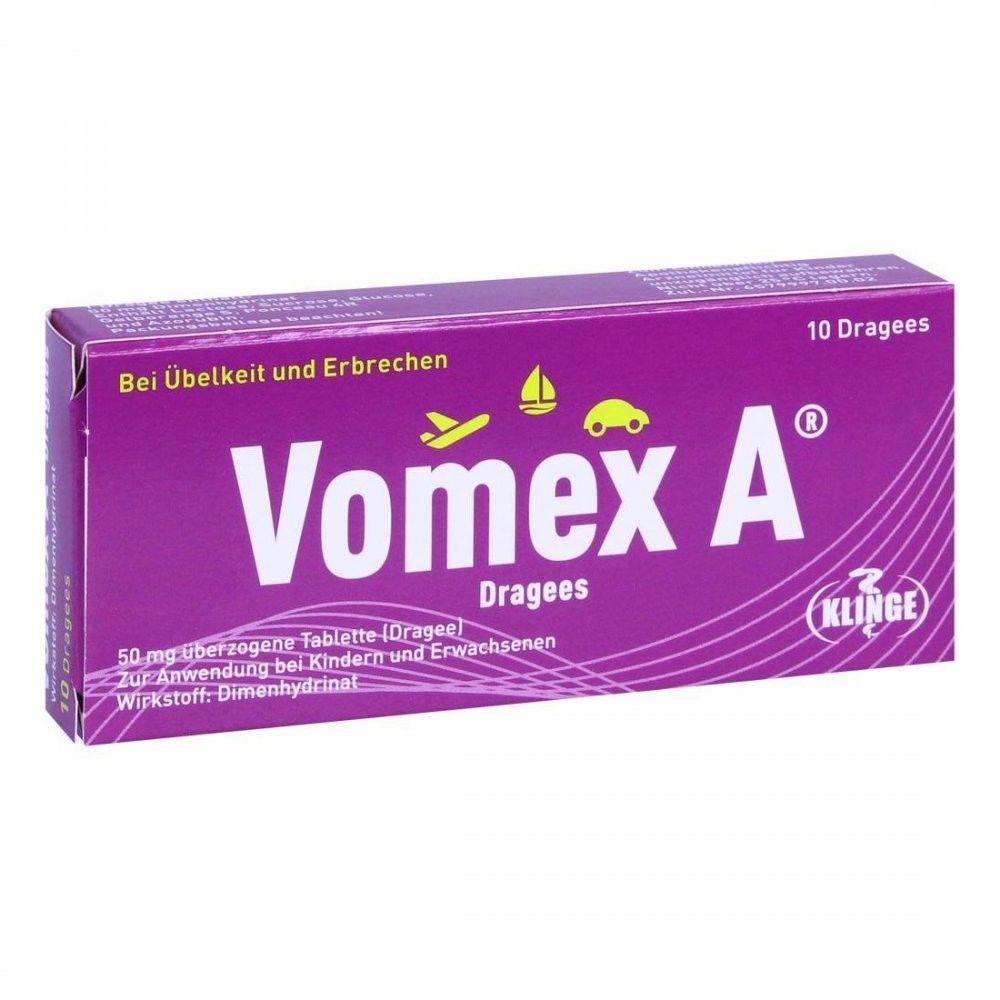 Vomex A Dragees 50 mg überzogene Tabletten