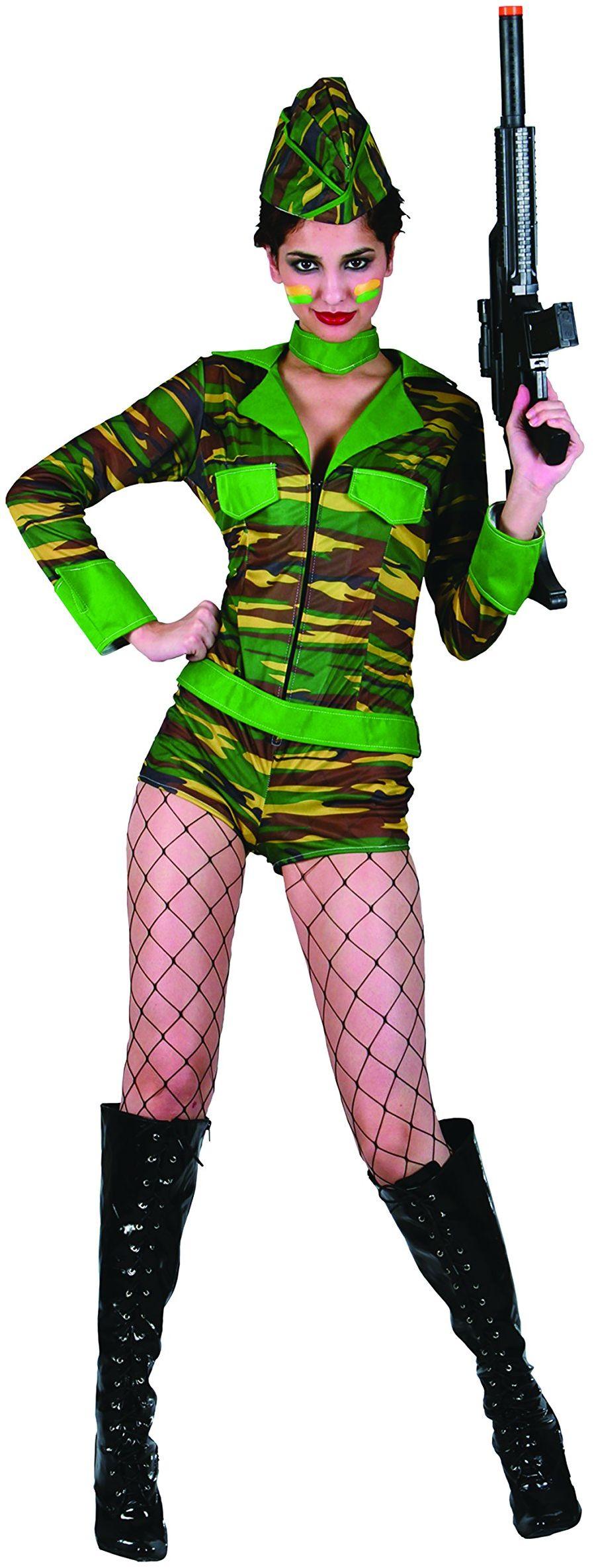 Kwiaty Paolo  kostium żołnierza damski dla dorosłych kobiet, wielokolorowy, rozmiar 40  42, 62077