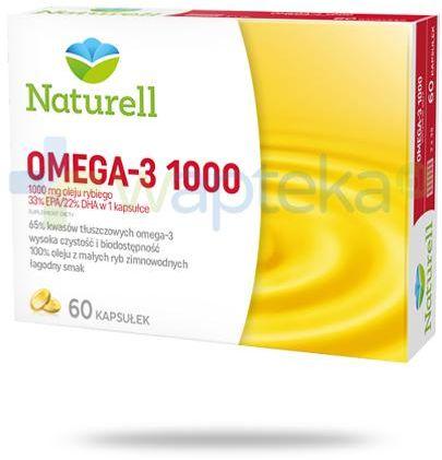 Naturell Omega-3 1000 60 kapsułek + Poradnik Zdrowego Serca