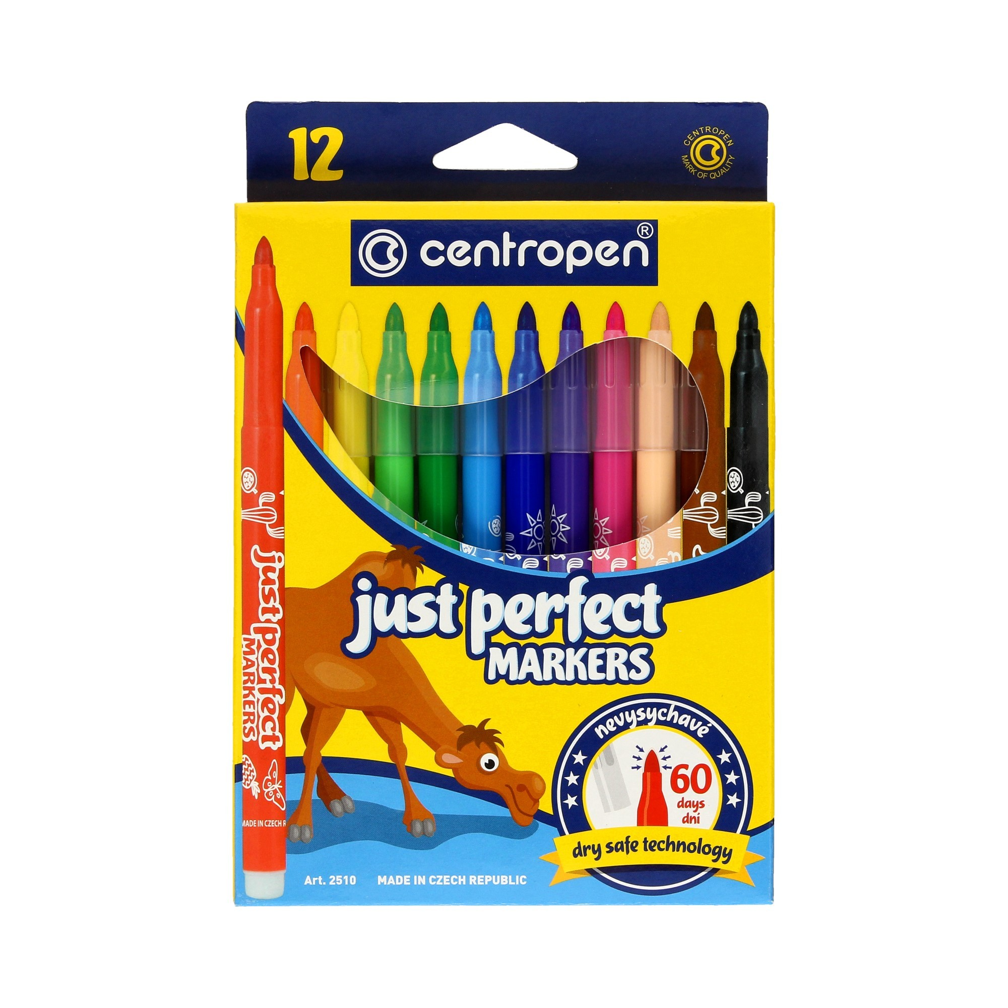 Flamastry spieralne 12kol Perfect Dry Centropen