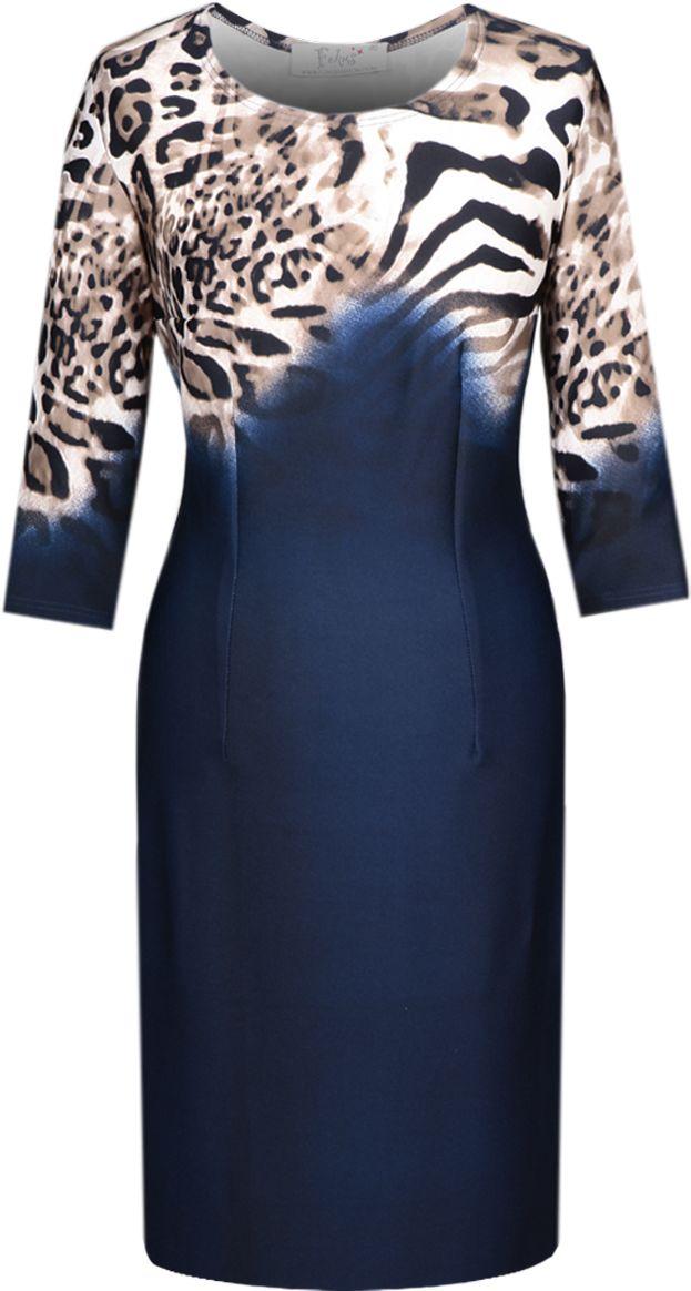 Sukienki Sukienka Suknie FSU406 GRANATOWY