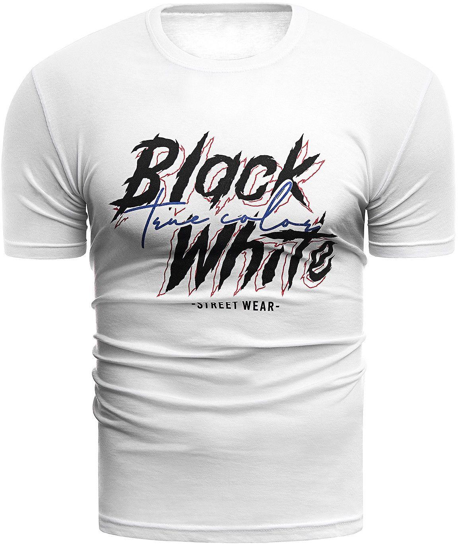 Wyprzedaż koszulka t-shirt Black&White 0003 - biały