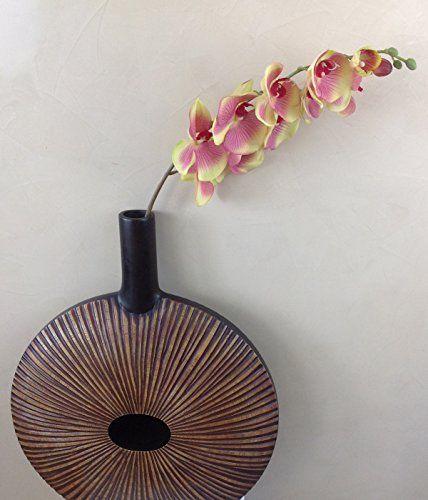 Orchidei gałąź 107 cm XXL zielone różowe jedwabne kwiaty sztuczne kwiaty orchidea jak prawdziwa