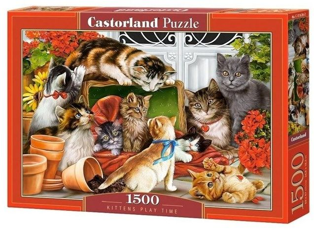 Puzzle 1500 Kittens play time CASTOR - Castorland