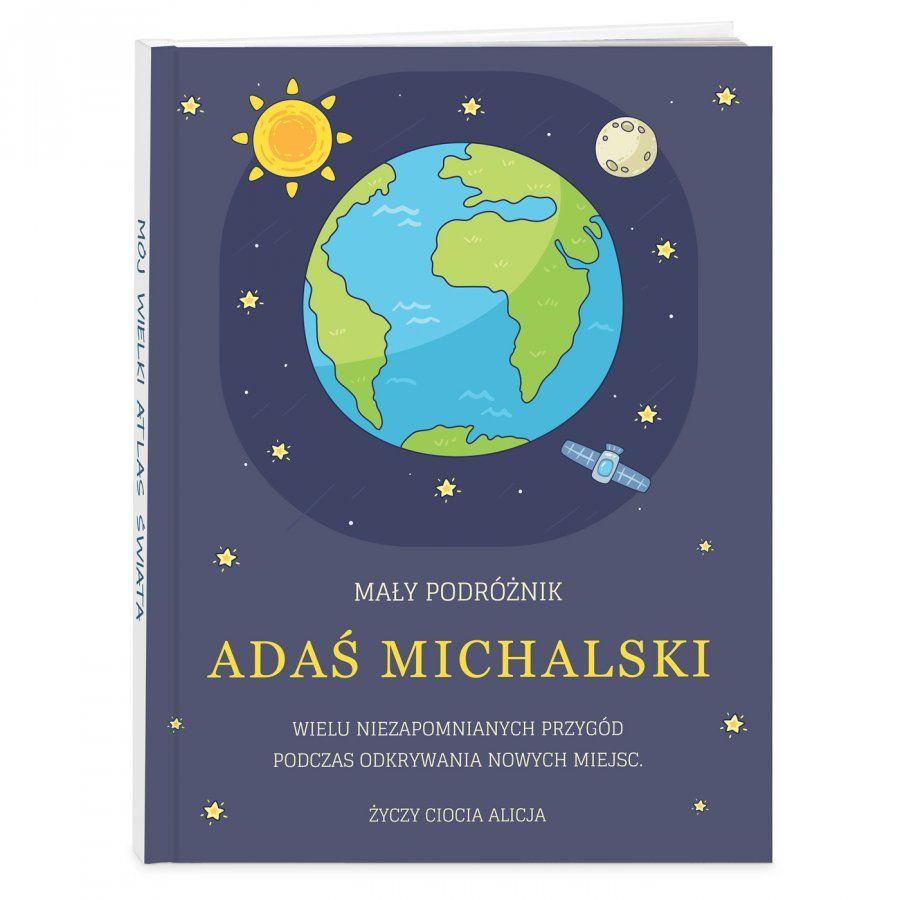 Atlas geograficzny z nadrukiem dla chłopca na Dzień Dziecka