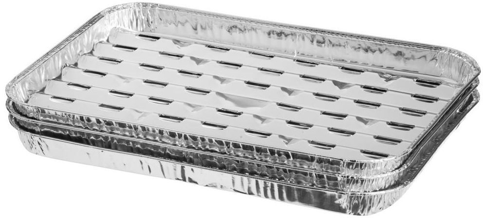 Tacki aluminiowe 5 szt. 35 x 23 cm do grilla
