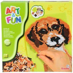 Simba 106306052 - Art & Fun mozaika pies z ponad 3000 pinów