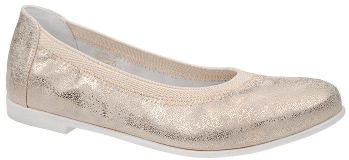 Balerinki KORNECKI 4905 Złote Baletki - Złoty