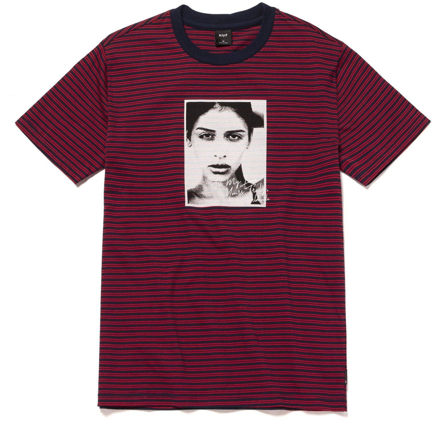 t-shirt męski HUF MOLLY STRIPPED SHIRT True Red