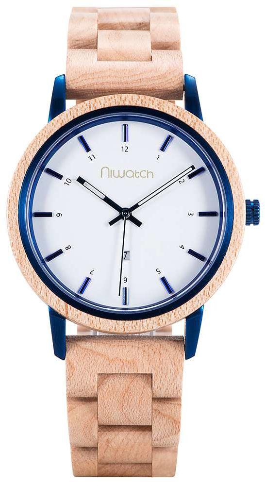 Zegarek drewniany Niwatch - kolekcja AZURE - KLON