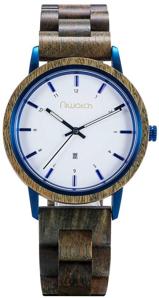 Zegarek drewniany Niwatch - kolekcja AZURE - SANDAŁOWIEC