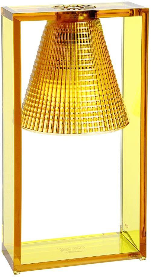 Kartell Light- Air lampa stołowa z tłoczeniem, bursztyn