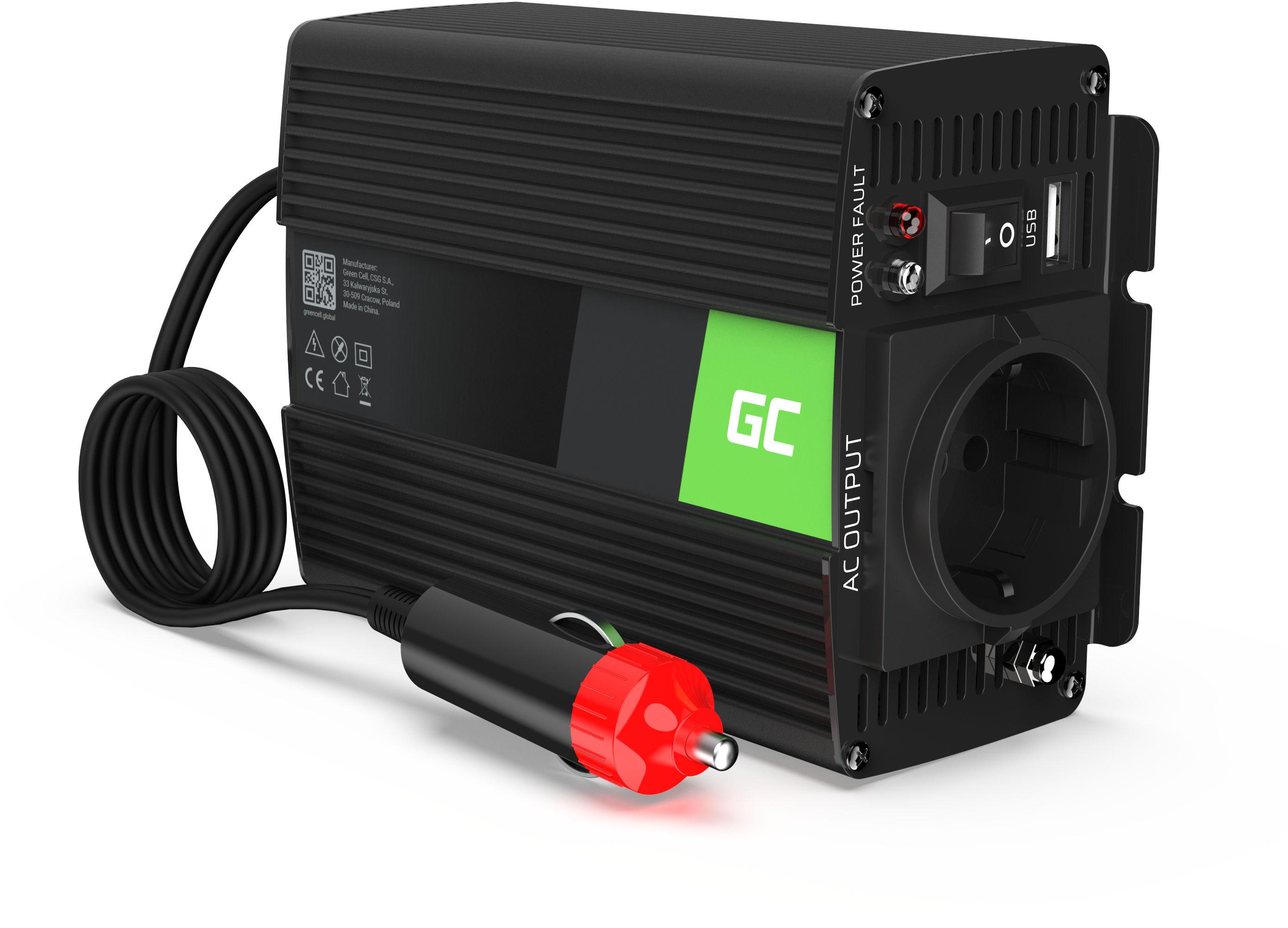 Przetwornica napięcia Inwerter Green Cell 12V na 230V 150W/300W Czysta sinusoida