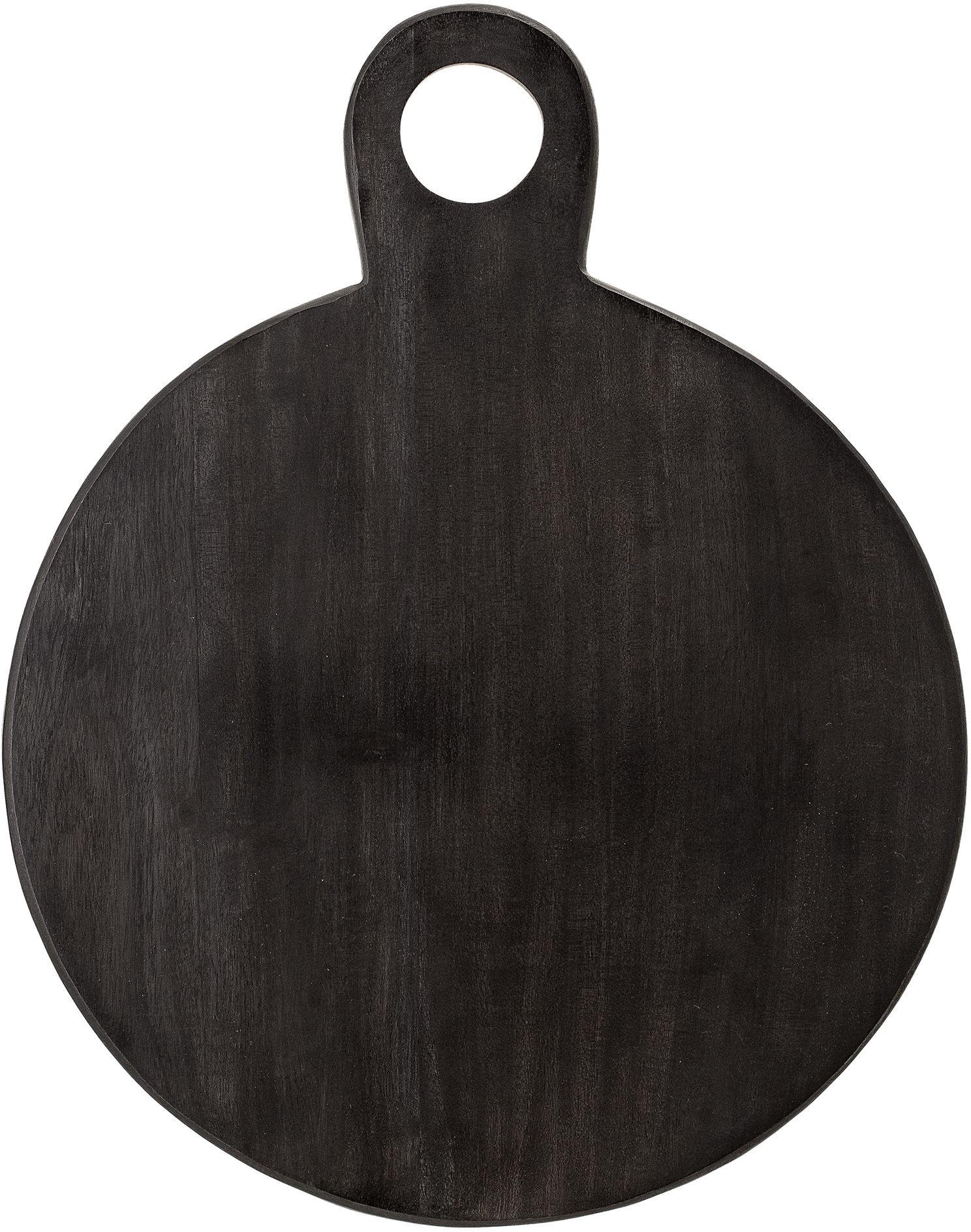 Deska Akacjowa Bloomingville Czarna Okrągła