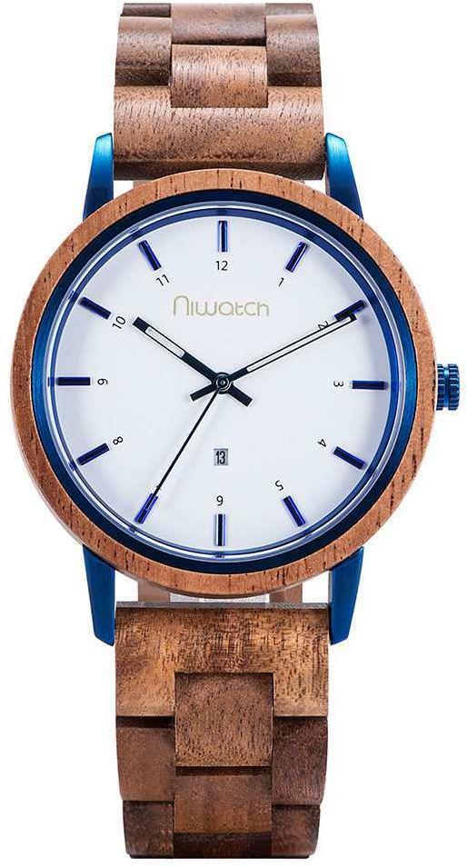 Zegarek drewniany Niwatch - kolekcja AZURE - ZEBRAWOOD