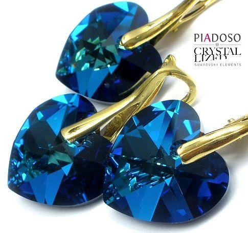 Kolczyki+Wisiorek Kryształy Bermuda Certyfikat