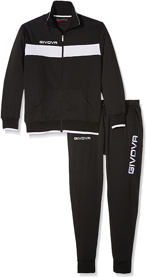 Givova, garnitur drops męski, czarny/biały, 2XS