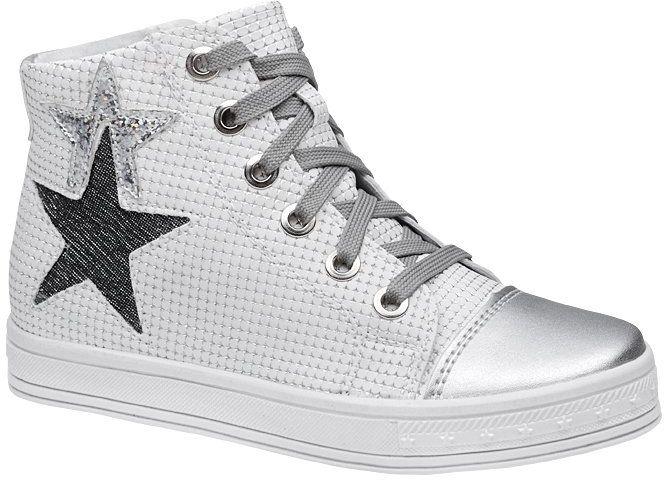 Sneakersy Trzewiki KORNECKI 6146 Białe Srebrne nieocieplane zamek