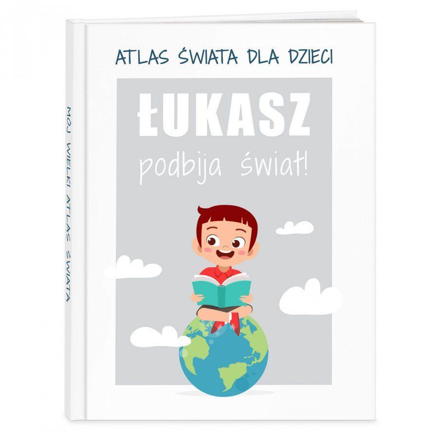 Atlas geograficzny z nadrukiem dla chłopca na imieniny