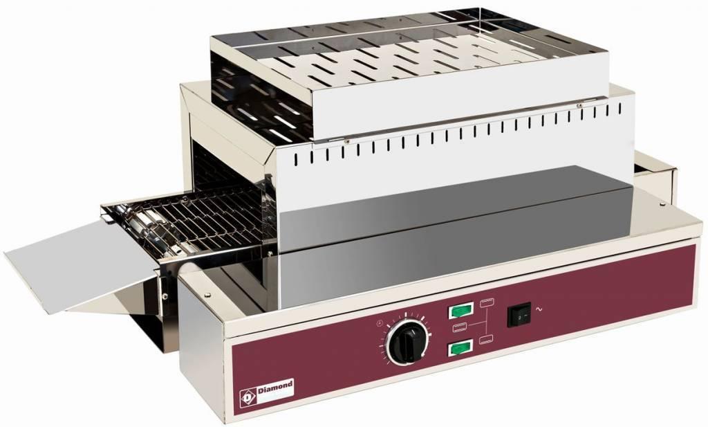 Elektryczny toster konwejer, automatyczny, taśma 210 mm