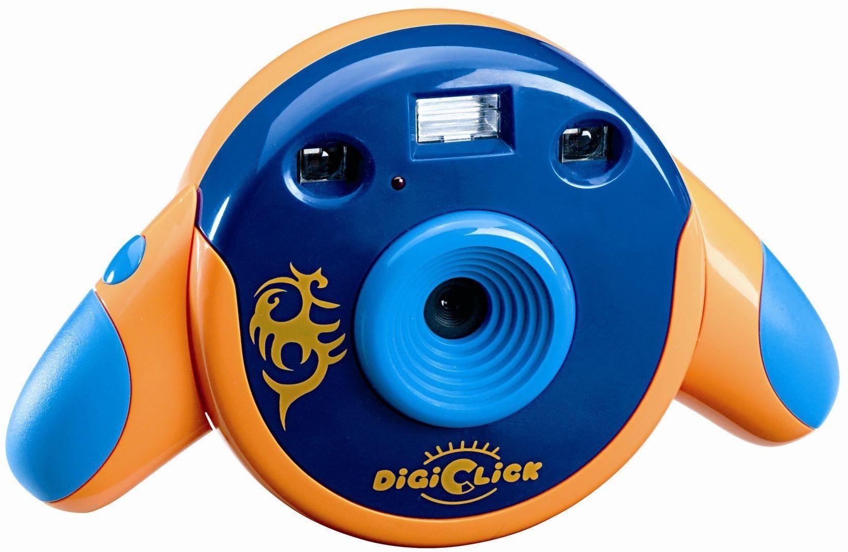 Lexibook Digiclick aparat dziecięcy (3,6 cm (1,4 cala) kolorowy wyświetlacz LCD) pomarańczowy/niebieski