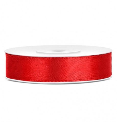 Tasiemka satynowa, czerwona