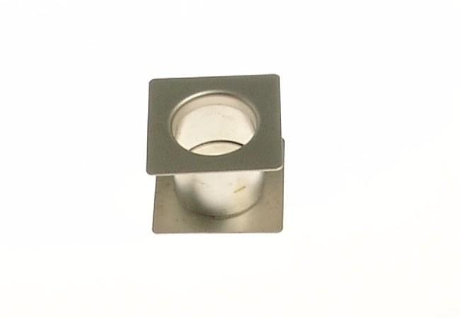 Tuleja wentylacyjna kwadratowa fi 40 nikiel/satyna